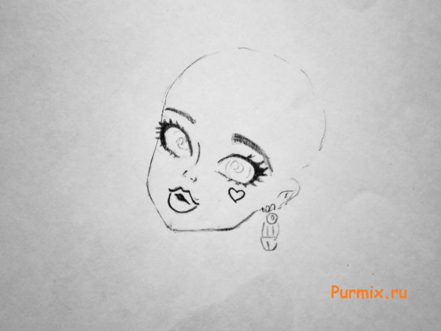 Рисуем милую Дракулауру - шаг 2