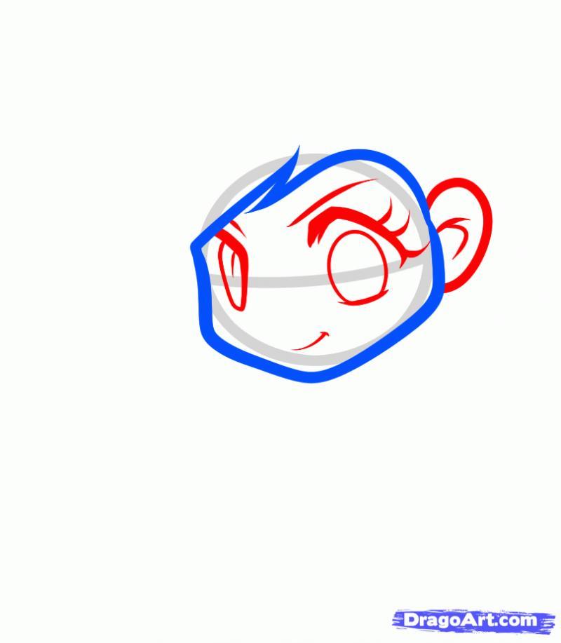 Рисуем Радугу Дэш в виде человека - шаг 3