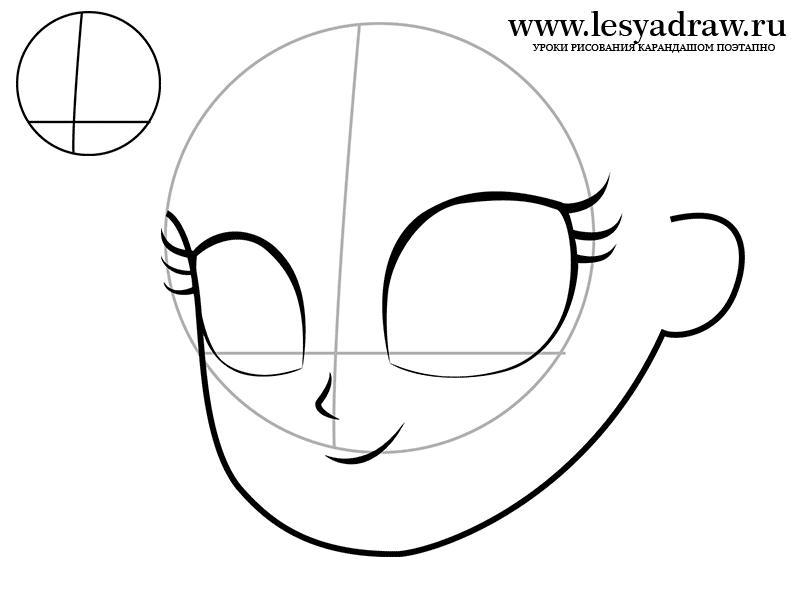 Рисуем Эпплджек в виде человека - шаг 1