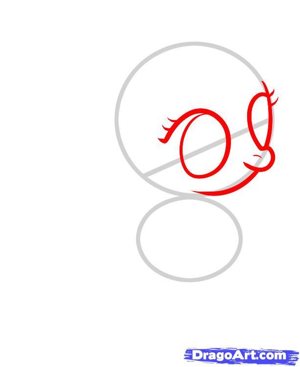 Рисуем пони Крошку Белль из дружба это чудо - шаг 2