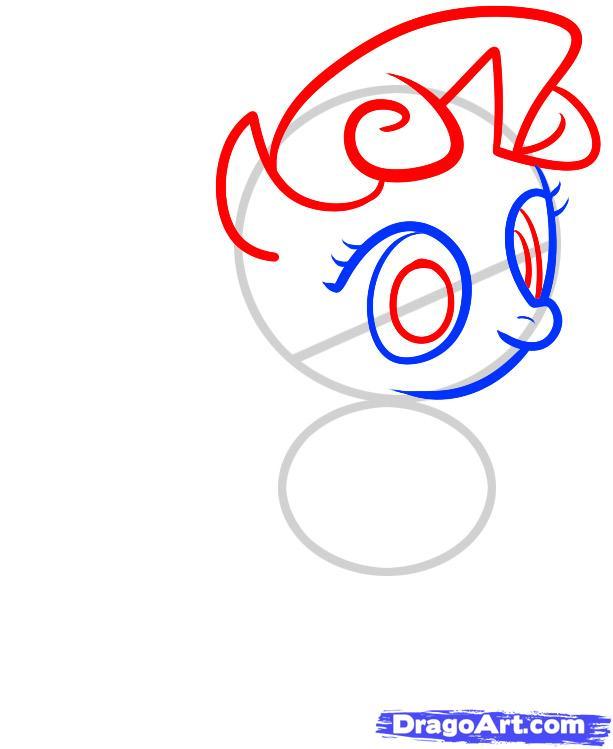 Рисуем пони Крошку Белль из дружба это чудо - шаг 3