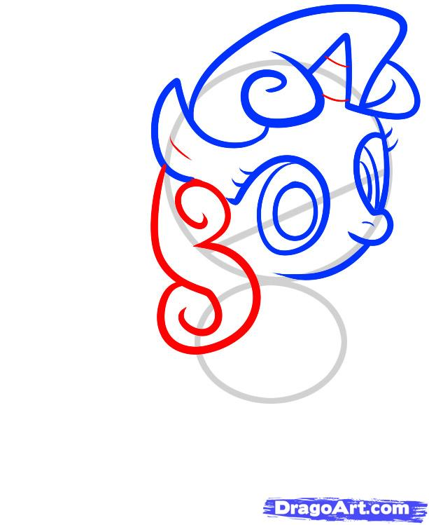 Рисуем пони Крошку Белль из дружба это чудо - шаг 4