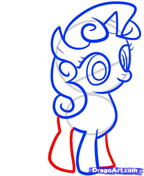 Рисуем пони Крошку Белль из дружба это чудо - шаг 6