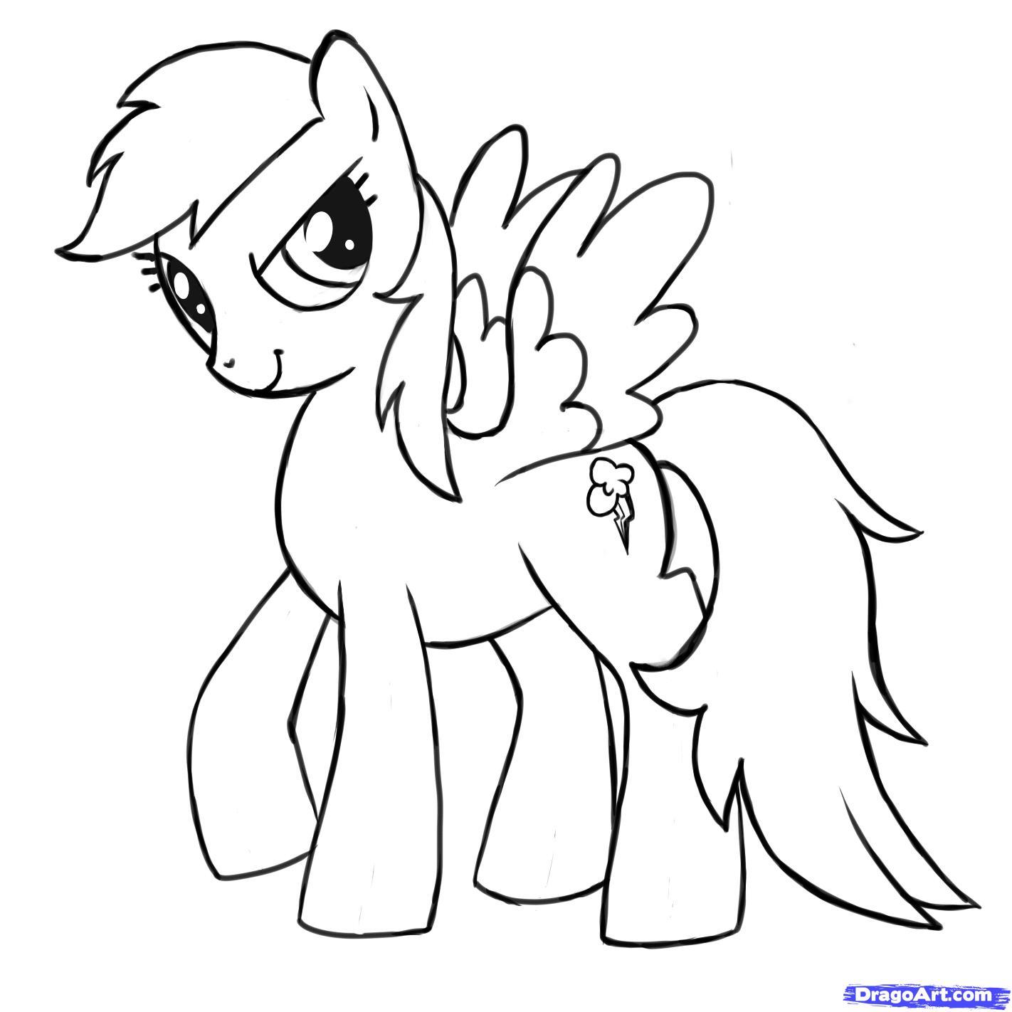 Рисуем пони Радуга Дэш из Дружба – это чудо - шаг 10