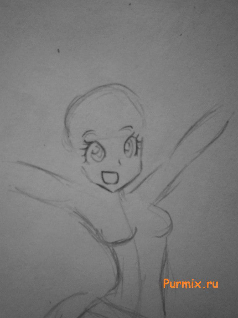 Рисуем девочку Пинки пай в аниме стиле - шаг 2