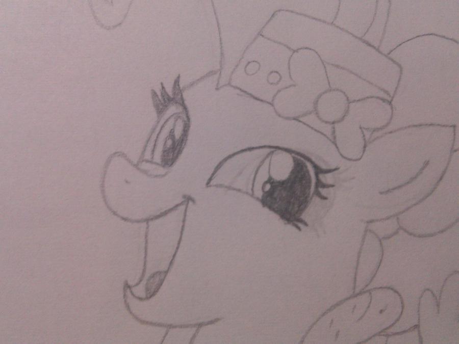 Рисуем пони Пинки Пай в праздничном платье - шаг 4