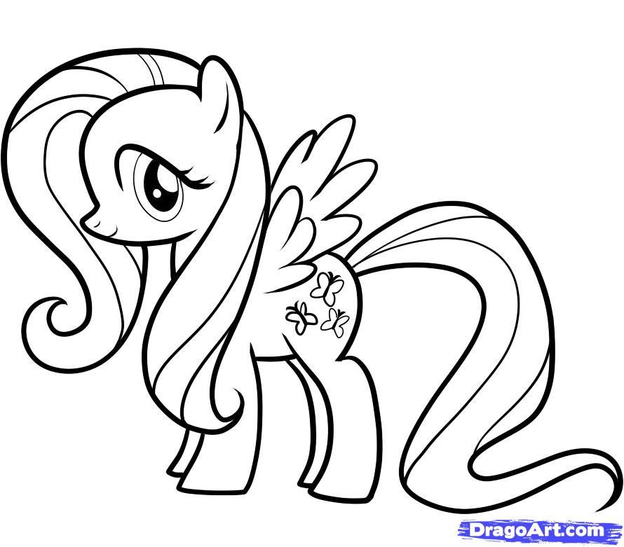 Рисуем пони Флаттершай из Дружба это чудо - шаг 10