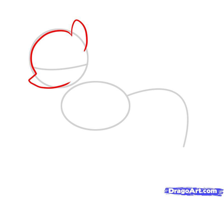 Рисуем пони Флаттершай из Дружба это чудо - шаг 2