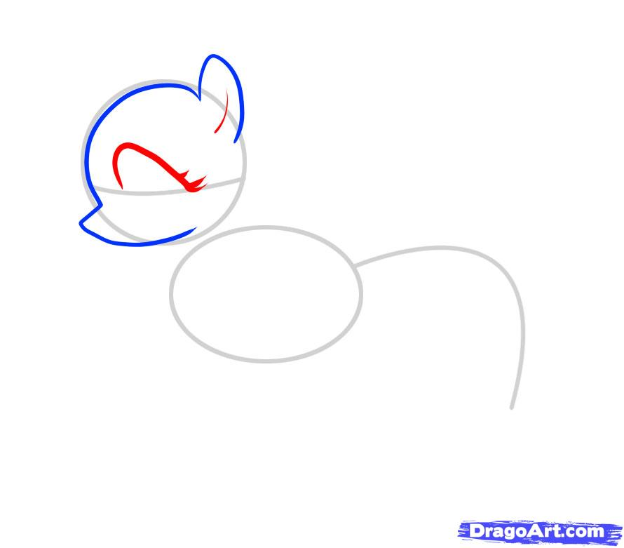 Рисуем пони Флаттершай из Дружба это чудо - шаг 3
