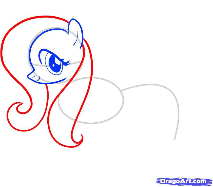 Рисуем пони Флаттершай из Дружба это чудо - шаг 5