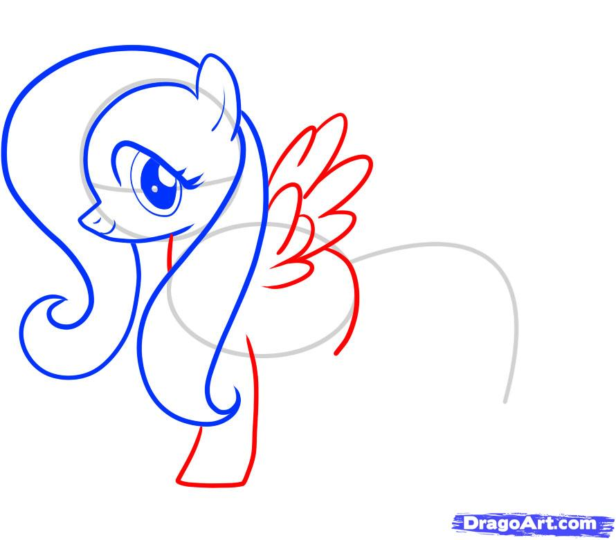 Рисуем пони Флаттершай из Дружба это чудо - шаг 6