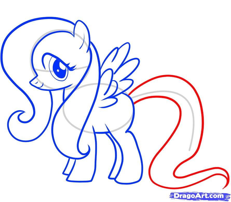 Рисуем пони Флаттершай из Дружба это чудо - шаг 8
