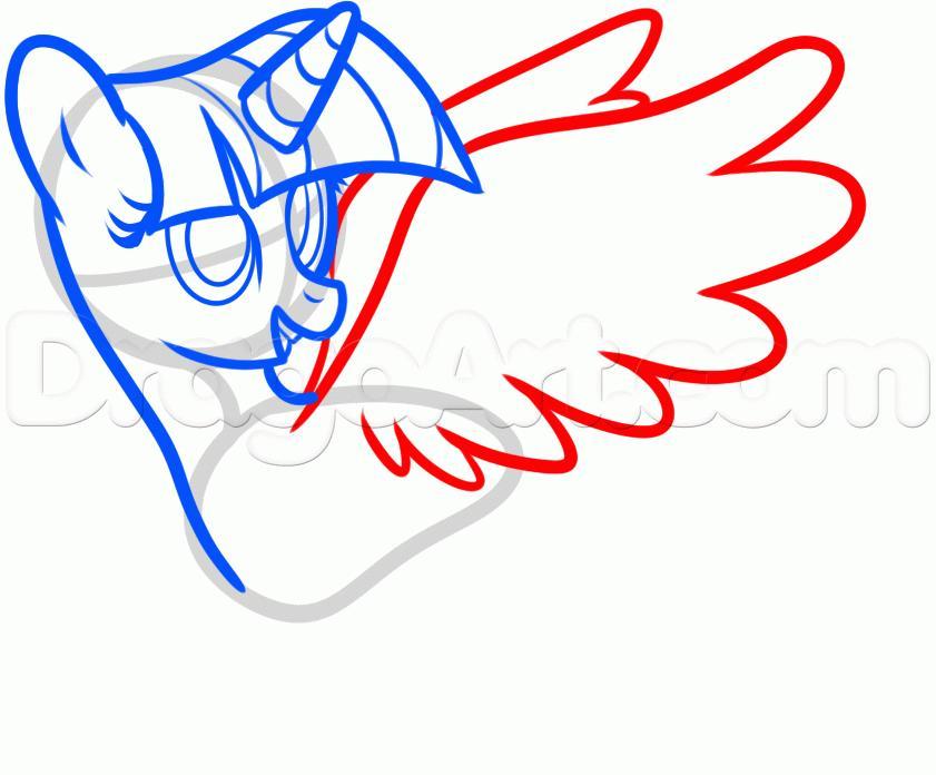 Рисуем пони Твайлайт Спаркл из Дружба — это чудо - шаг 5