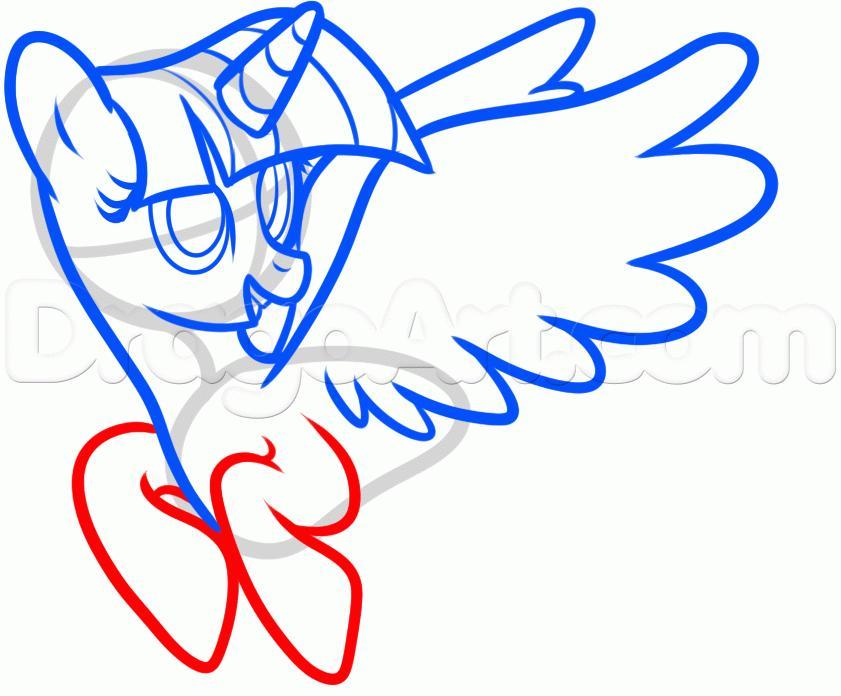 Рисуем пони Твайлайт Спаркл из Дружба — это чудо - шаг 6