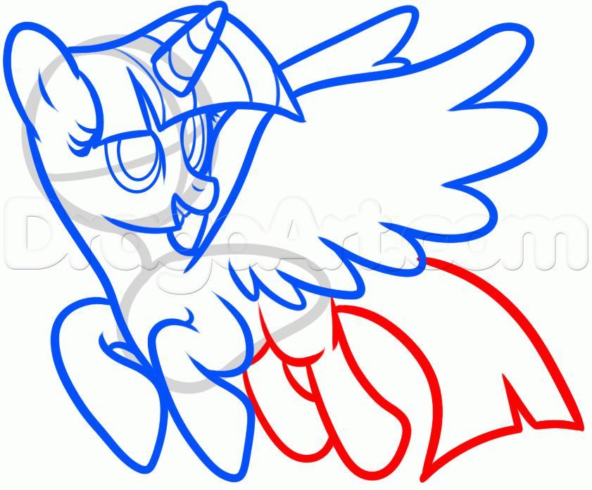 Рисуем пони Твайлайт Спаркл из Дружба — это чудо - шаг 7