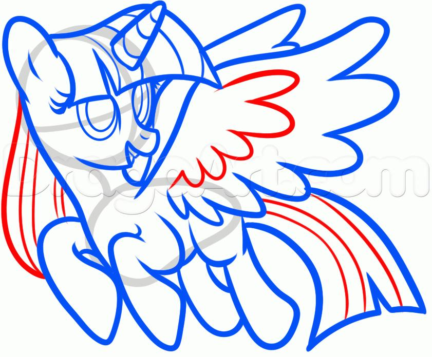 Рисуем пони Твайлайт Спаркл из Дружба — это чудо - шаг 8