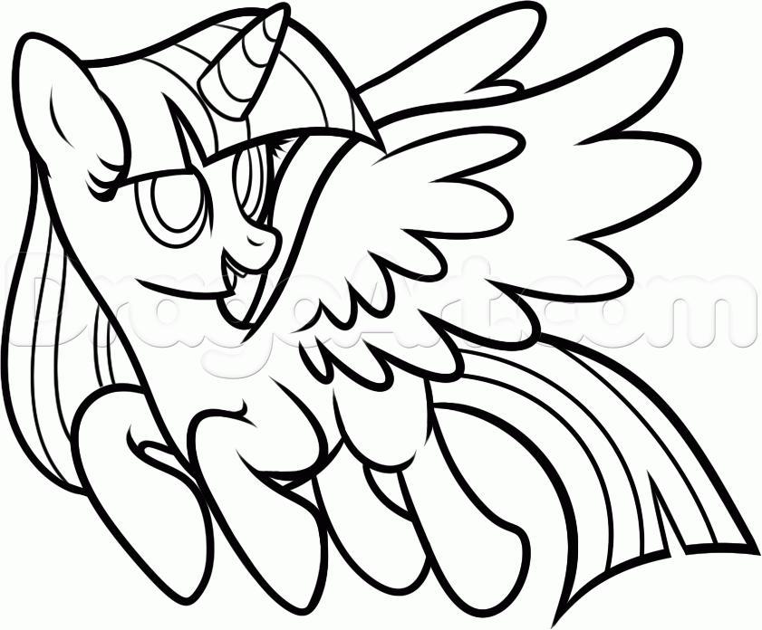 Рисуем пони Твайлайт Спаркл из Дружба — это чудо - шаг 9