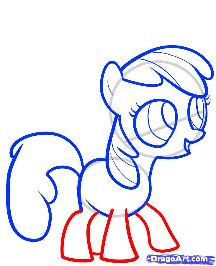 Рисуем пони Эппл Блум (Apple Bloom)