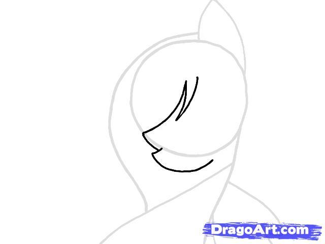 Рисуем портрет пони Флаттершай - шаг 3