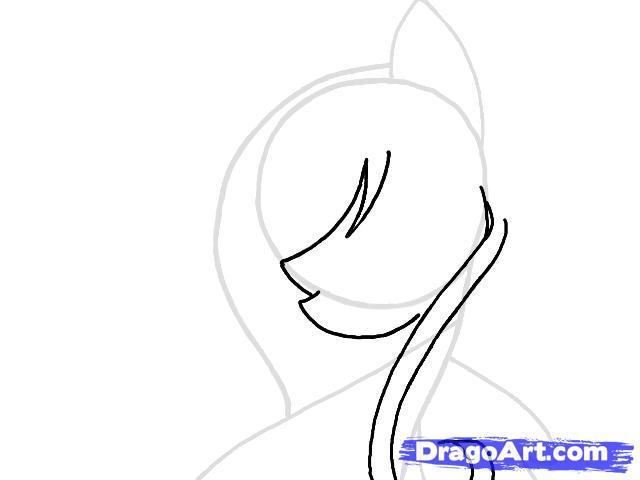 Рисуем портрет пони Флаттершай - шаг 4