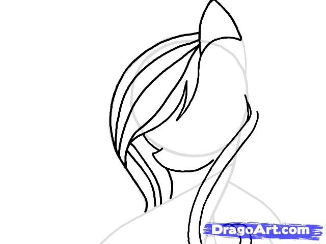 Рисуем портрет пони Флаттершай - шаг 5