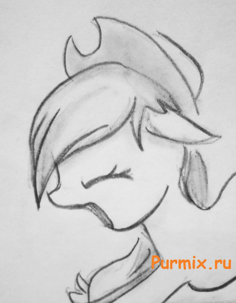 Рисуем пони Эпплджек из Дружба - это чудо - шаг 4