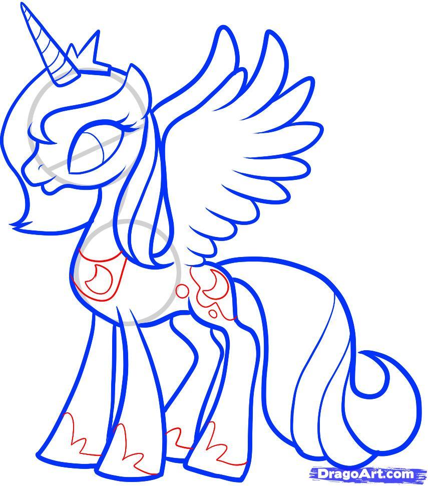 Рисуем Принцессу Луны (Princess Luna) - шаг 10