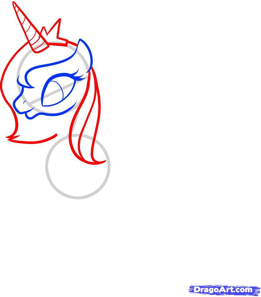 Рисуем Принцессу Луны (Princess Luna) - шаг 4