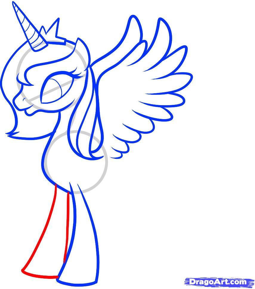 Рисуем Принцессу Луны (Princess Luna) - шаг 7