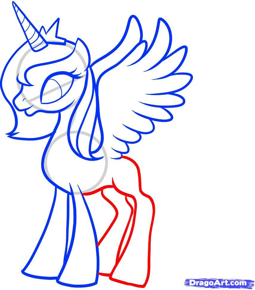 Рисуем Принцессу Луны (Princess Luna) - шаг 8