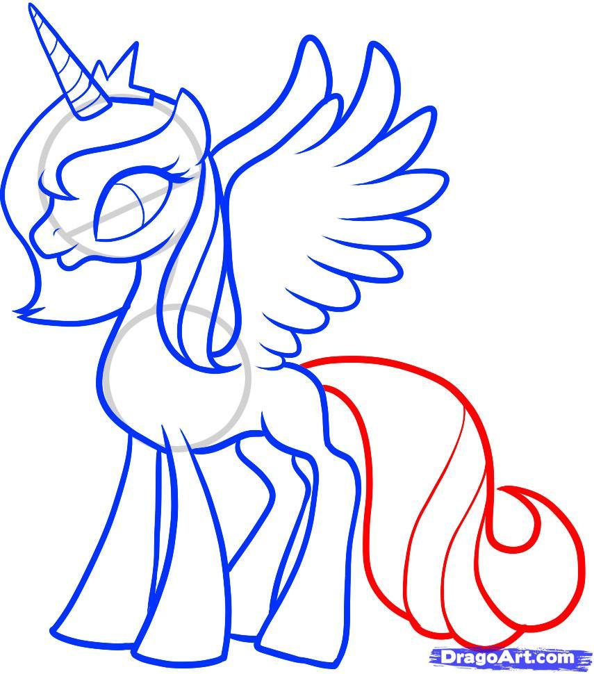 Рисуем Принцессу Луны (Princess Luna) - шаг 9
