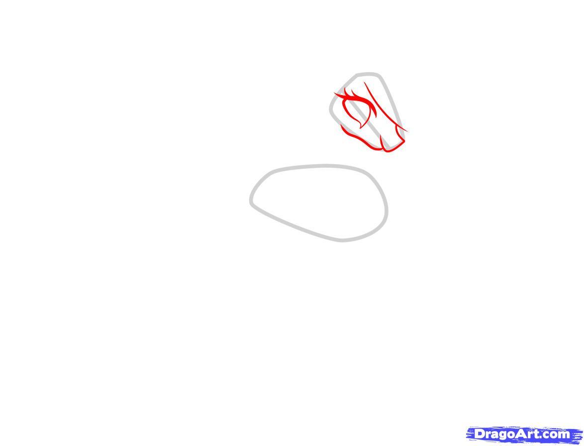 Рисуем принцессу Селестию - шаг 2