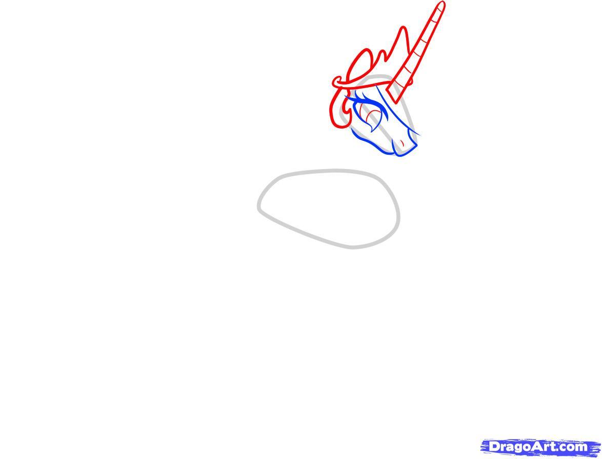 Рисуем принцессу Селестию - шаг 3