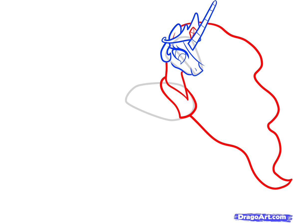 Рисуем принцессу Селестию - шаг 4