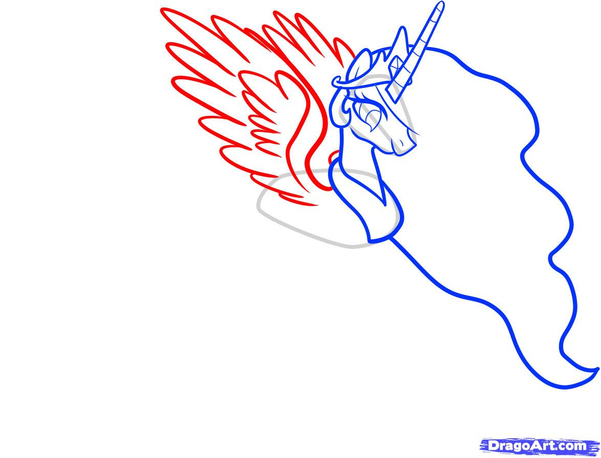 Рисуем принцессу Селестию - шаг 5
