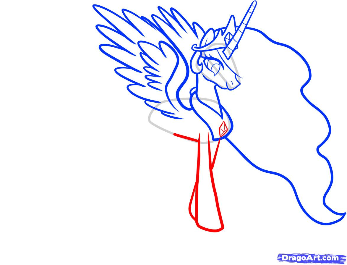 Рисуем принцессу Селестию - шаг 6