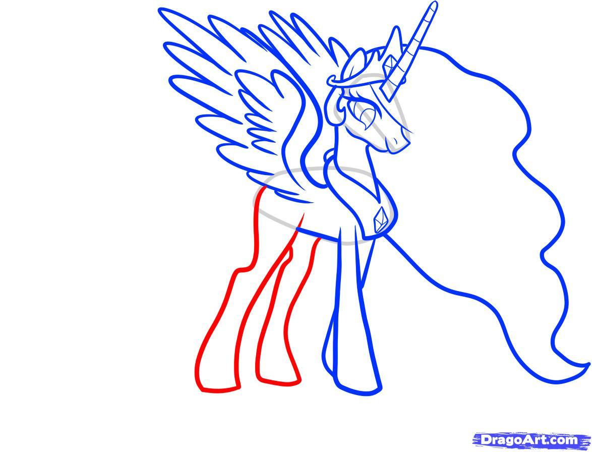 Рисуем принцессу Селестию - шаг 7