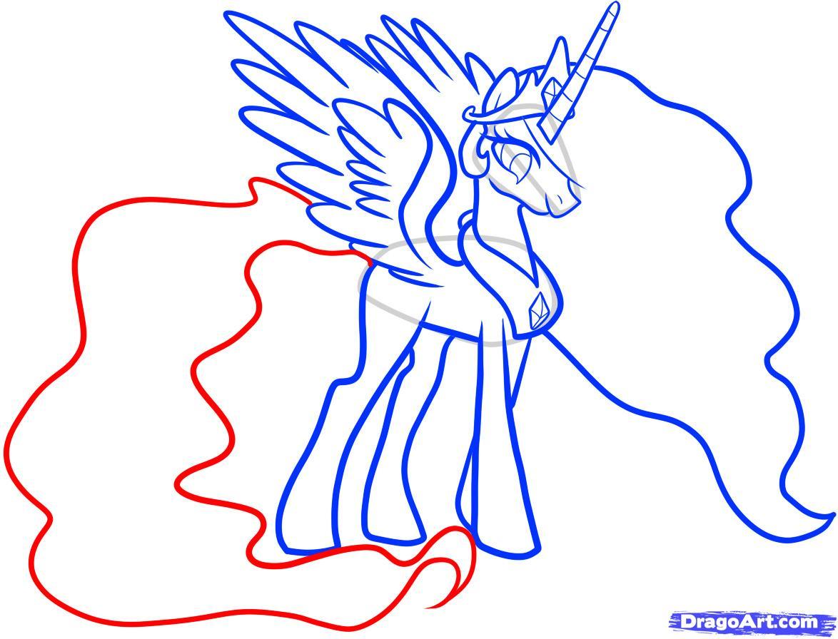Рисуем принцессу Селестию - шаг 8
