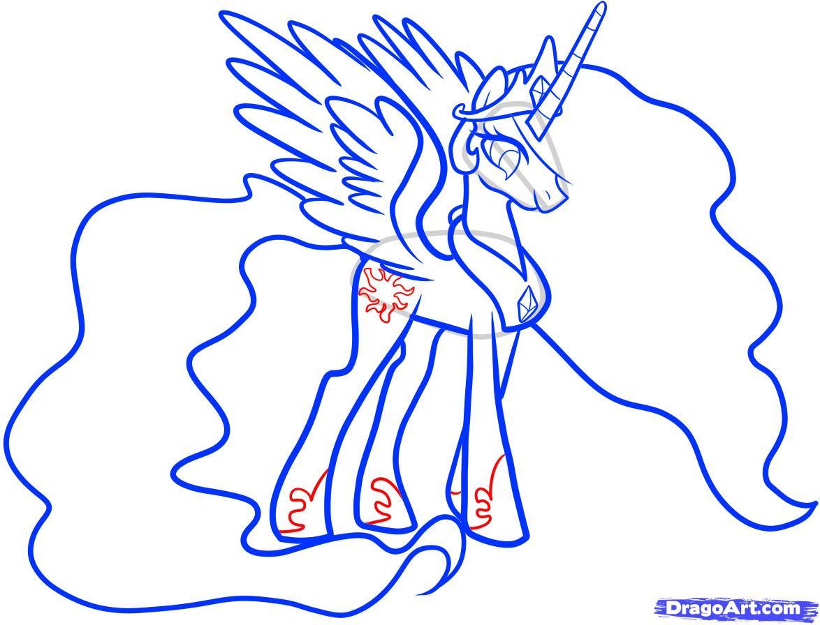 Рисуем принцессу Селестию - шаг 9