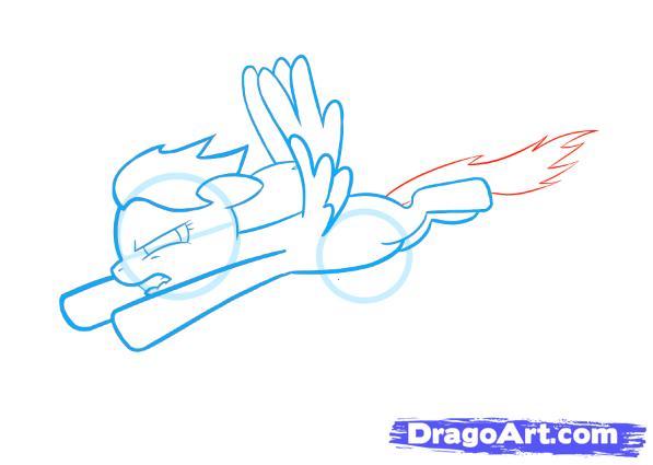 Рисуем пони Радуга Дэш из Дружба – это чудо - шаг 4