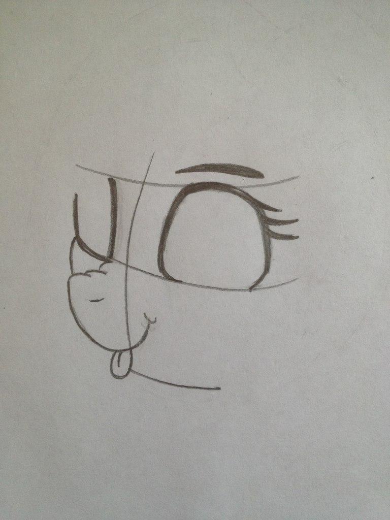 Рисуем пони Винил Скретч из My Little Pony - шаг 2