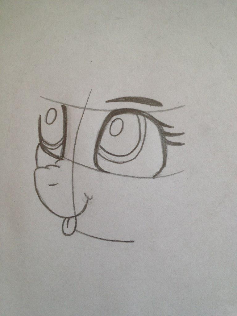 Рисуем пони Винил Скретч из My Little Pony - шаг 3