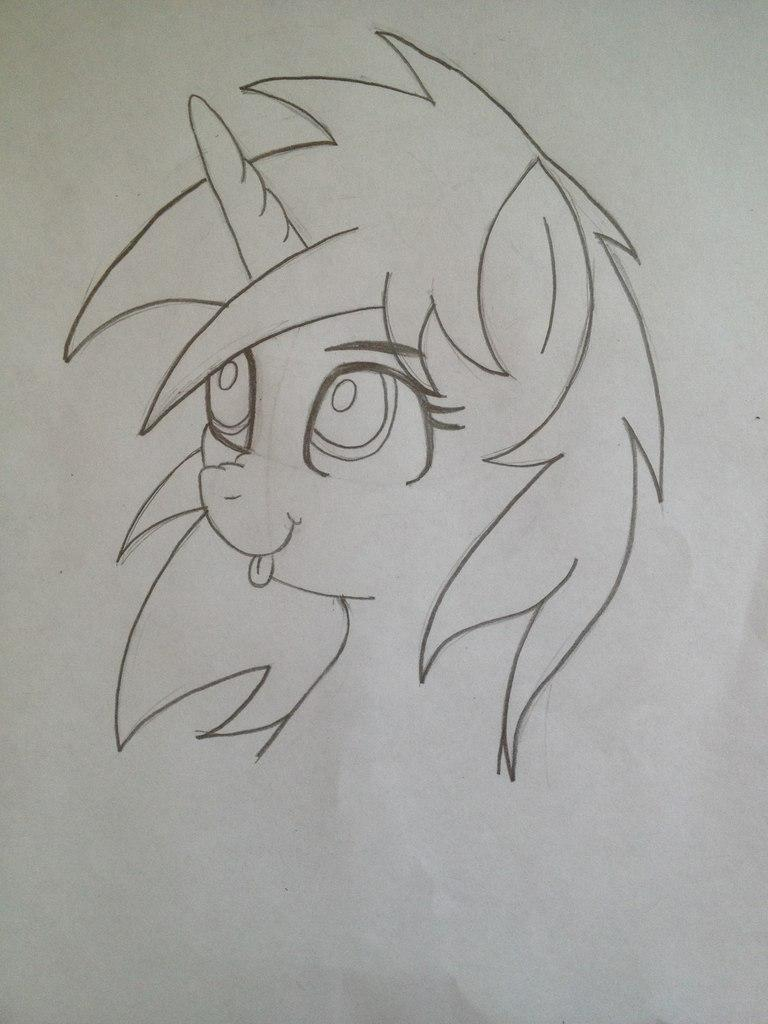 Рисуем пони Винил Скретч из My Little Pony - шаг 6