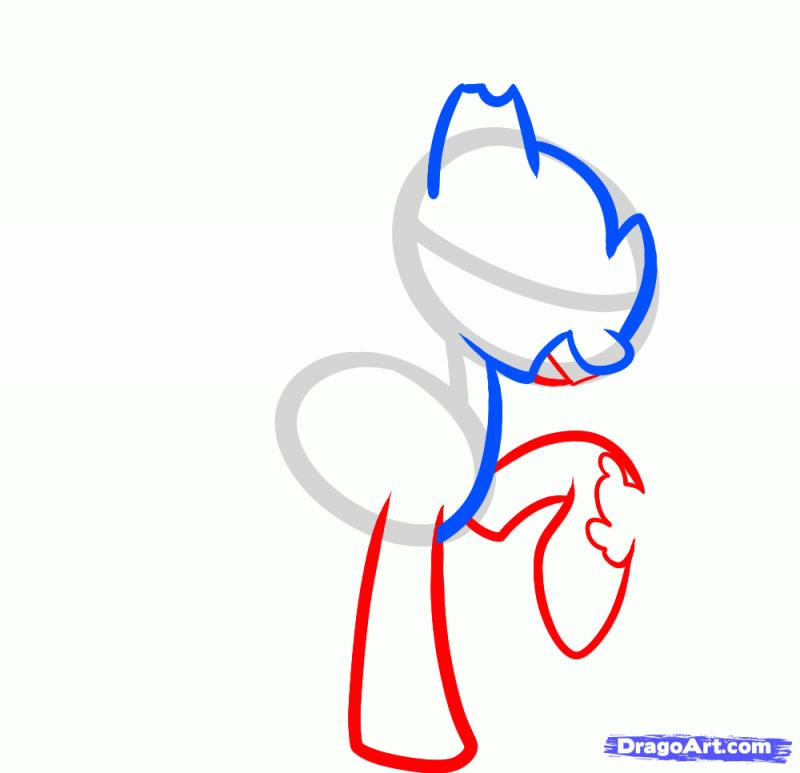 Рисуем зомби Пинки Пай - шаг 3