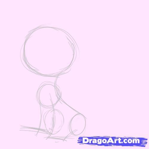 Как рисовать пони в наушниках - шаг 1