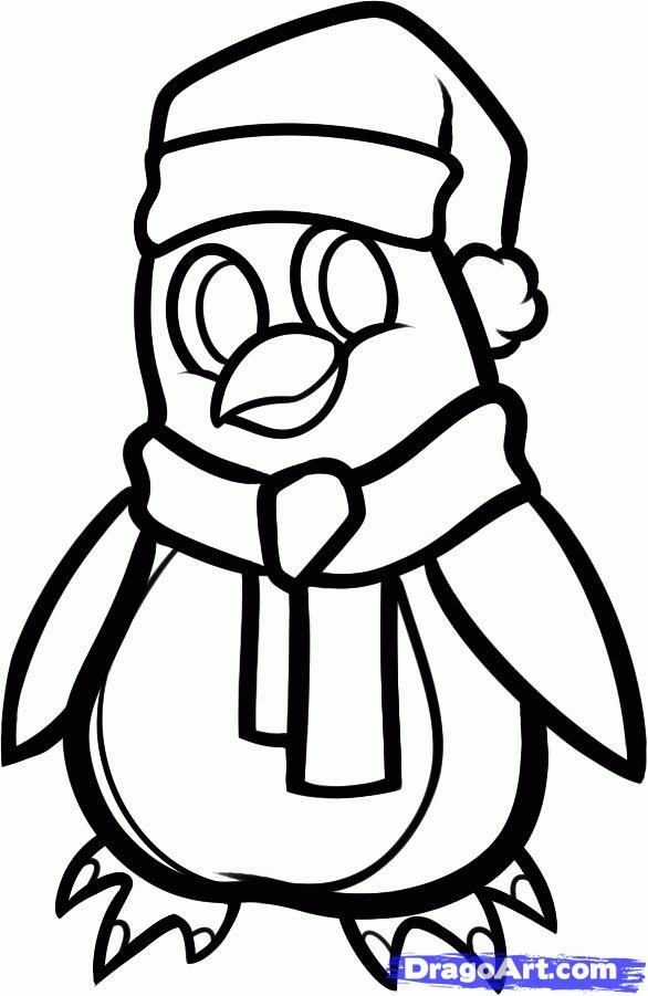 Рисуем новогоднего пингвина - шаг 9