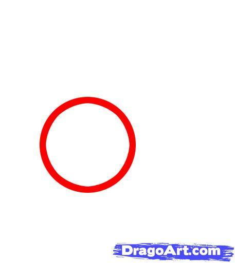 Рисуем новогодний колокольчик - шаг 1