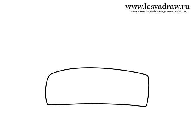 Рисуем шапку Деда Мороза - шаг 1