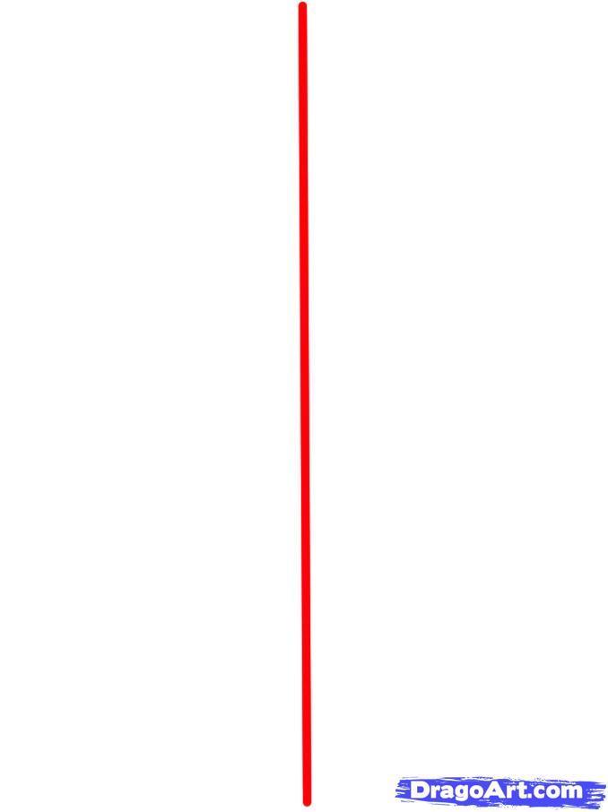 Как просто нарисовать новогоднюю елку - шаг 1