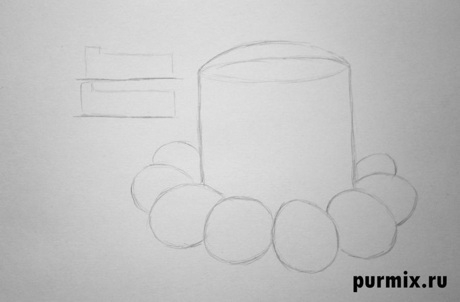 Как нарисовать открытку на пасху поэтапно